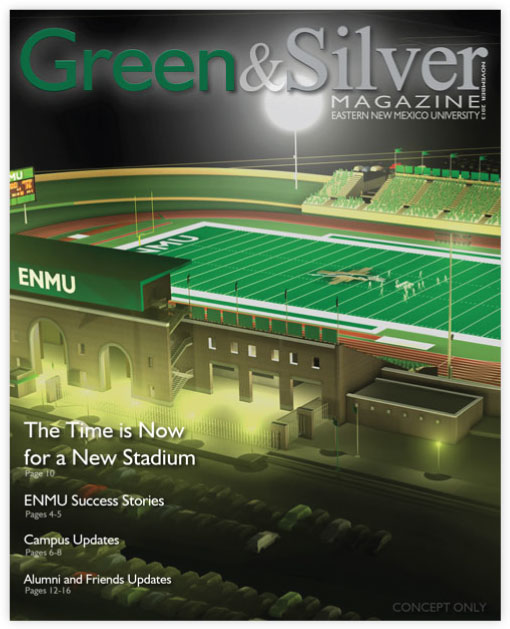 Cover of Green & Silver Magazine for 2013 Nov