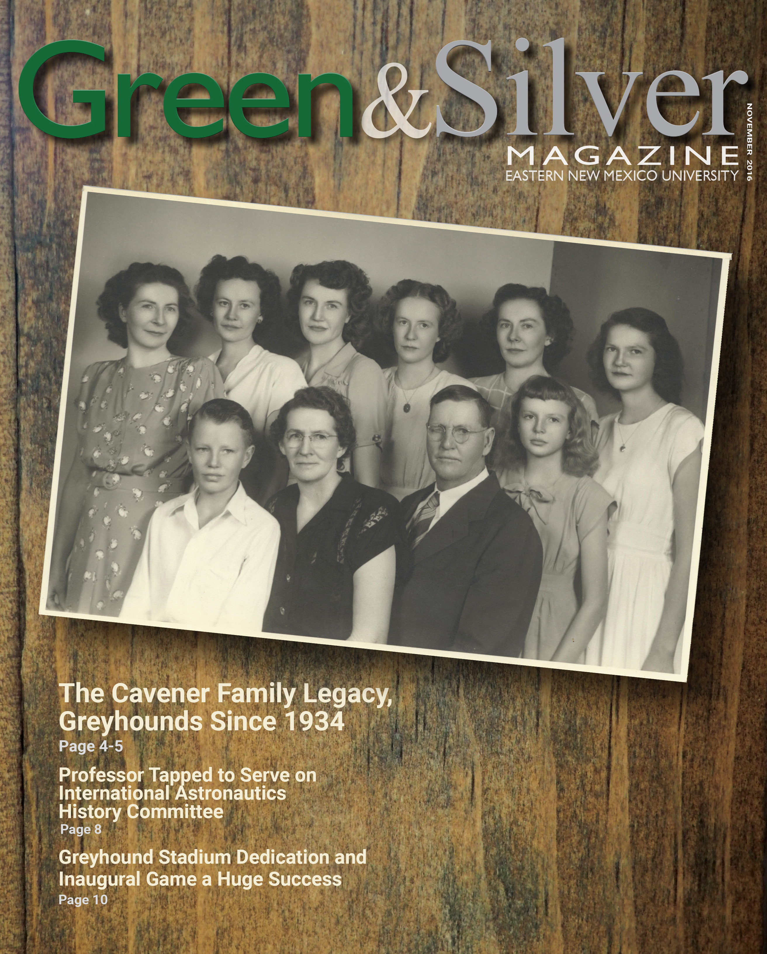 Green & Silver Magazine November 2016 cover