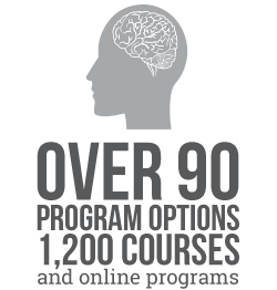 Over 90 program options