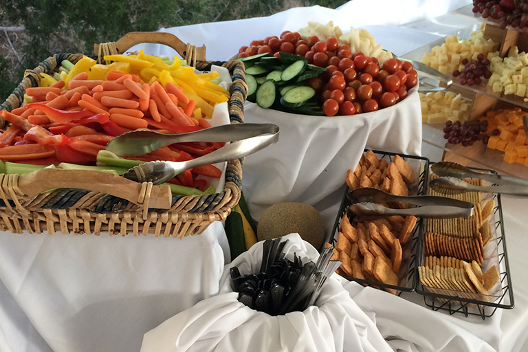 Fresh fruit and cheeses - wedding reception