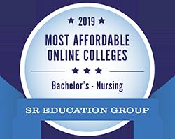 #7 for most affordable online colleges for Nursing degrees for 2019