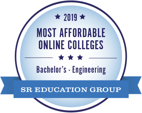 #1 for most affordable online college for engineering degrees for 2019