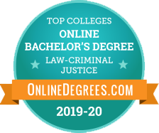 #15 of 20 Best Online Colleges for Bachelor's in Criminal Justice 2019