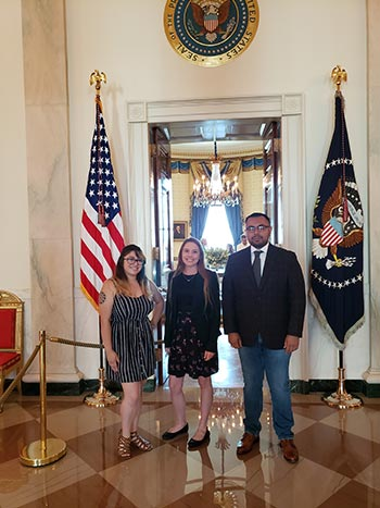 dr camarillo with students at white house