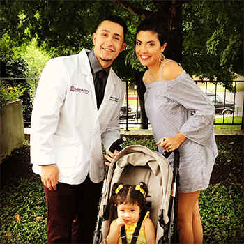 john garcia with wife and daughter