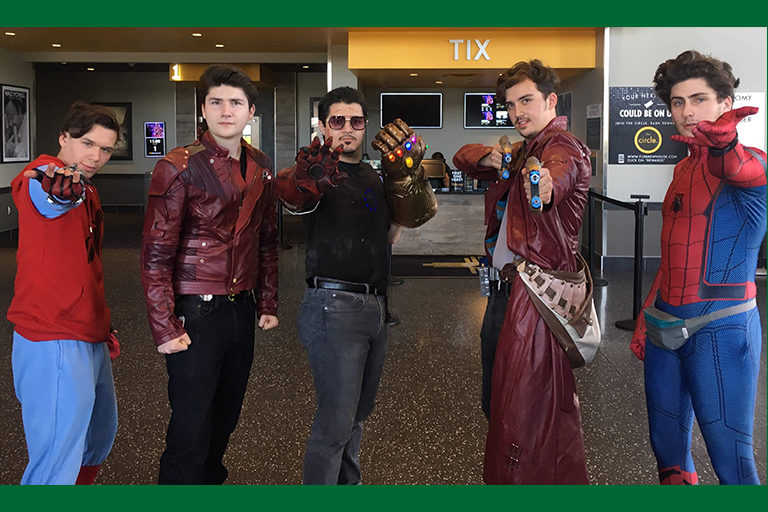 Dillon Korte, an ENMU student, shares suggestions on superhero movies to binge during the break. He is pictured here as Star-Lord.
