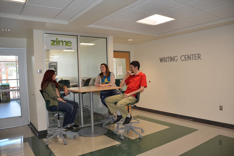 ENMU Students at the Writing Center