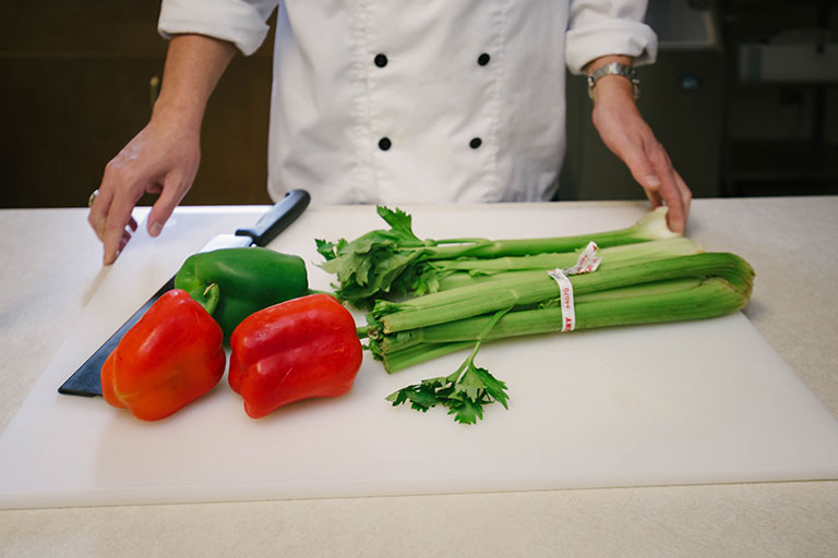 Vegetable on a cutting board