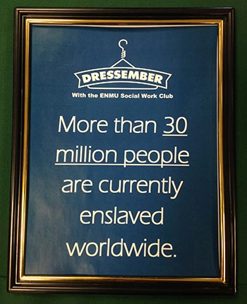 dressember sign with information