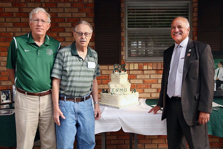 (L to R) Past Presidents Dr. Steven Gamble and Dr. Everett Frost and current ENMU President Dr. Jeff Elwell.