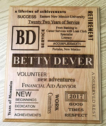 betty plaque