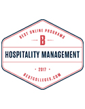 2017 best online colleges hospitality management seal
