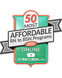 50 most affordable rn to bsn programs online