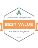 Best value RN to BSN 2016
