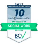 most affordable online bachelors in social work 2017