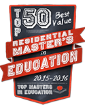 top 50 best value residential masters in education