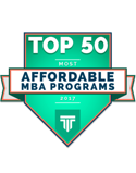top 50 most affordable MBA programs 2017