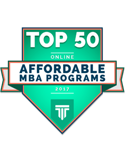 top 50 online affordable MBA programs 2017
