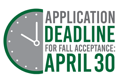 Application deadline for fall acceptance: April 30