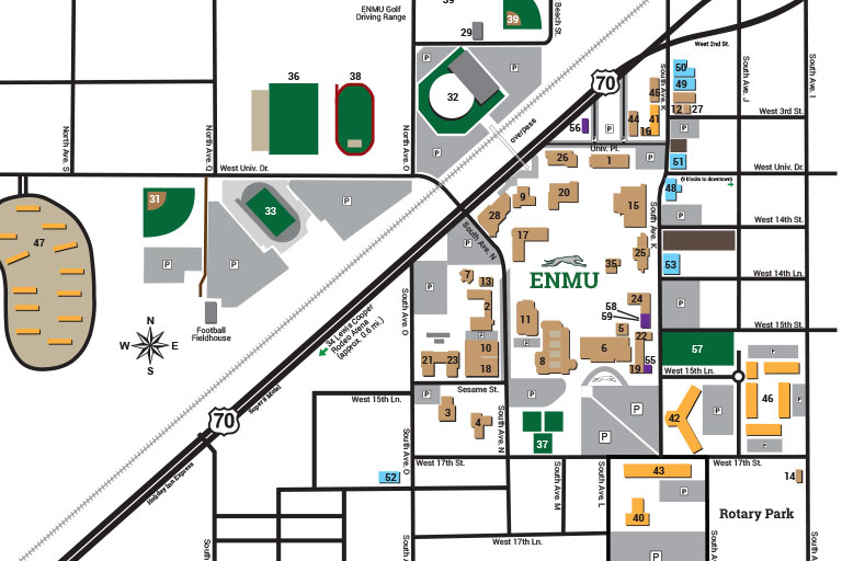 Roosevelt University Campus Map.Come Visit Admission Eastern New Mexico University